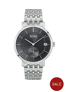 boss-corporal-black-sunray-and-silver-detail-multi-dial-stainless-steel-bracelet-strap-mens-watch