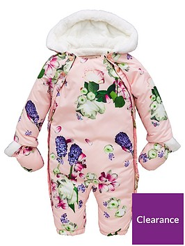 1e5ee3dc4 Baker by Ted Baker Baby Girls All Over Print Snowsuit