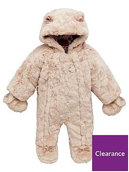 e82909c9d Baker by Ted Baker Baby Girl Faux Fur Snowsuit