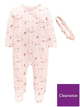 9e28837ab432 Baker by Ted Baker Baby Girls 2 Piece Bunnies Sleepsuit and Headband Outfit  - Light Pink