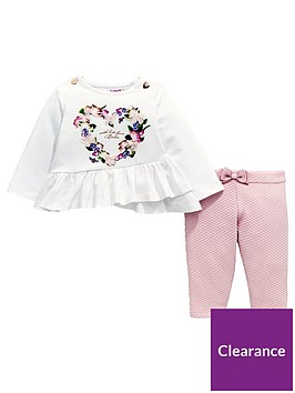 7c3a56b1c Baker by Ted Baker Baby Girls Jersey Top And Quilted Legging Set ...