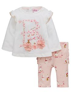 652ec179881a2 Baker by Ted Baker Baby Girls Graphic Top And Frill Legging Set