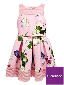 60886404d2e39 Baker by Ted Baker Girls Foiled Scuba Dress - Light Pink ...