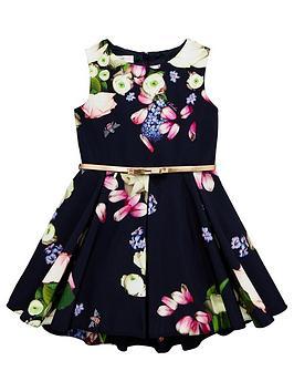 baker-by-ted-baker-girls-floral-print-belted-prom-dress