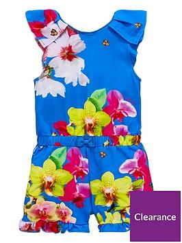 baker-by-ted-baker-girls-floral-playsuitnbsp--blue