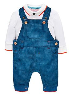 ee2a62fe4 Baker by Ted Baker Baby Boys Dungaree   Polo Outfit
