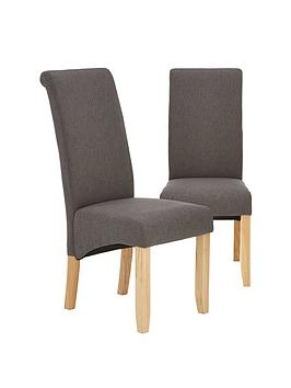 Very Pair Of Chatham Fabric Dining Chairs Picture