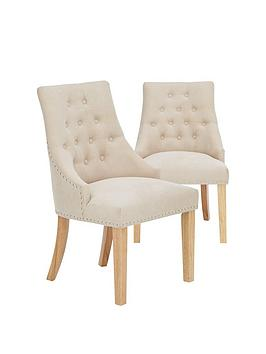Very Pair Of Warwick Fabric Dining Chairs Picture
