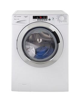 Candy   Grand'O Vita Gvs1410Dc3 10Kg Load, 1400 Spin Washing Machine With Smart Touch - White/Chrome