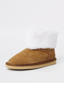 river-island-girls-suede-faux-fur-lined-boots