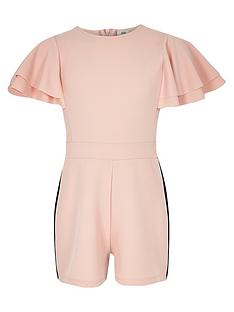 river-island-girls-pink-frill-sleeve-tape-side-playsuit