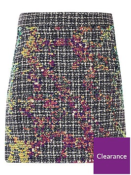 river-island-girls-blue-boucle-sequin-a-line-skirt