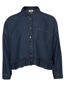 river-island-girls-long-sleeve-denim-frill-hem-shirt