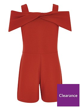 river-island-girls-red-bow-cold-shoulder-playsuit