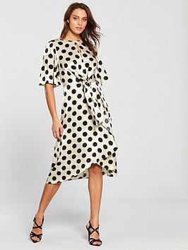 v-by-very-polka-dot-jacquardnbspwrap-dress-monochromenbsp
