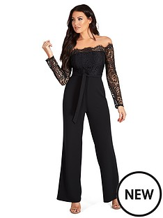 sistaglam-loves-jessica-lace-top-off-the-shoulder-wide-leg-jumpsuit-black
