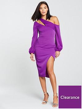 lavish-alice-one-shoulder-balloon-sleeve-midi-dress-bright-purple