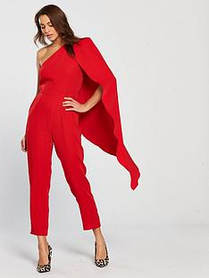 lavish-alice-one-shoulder-cape-tailored-jumpsuit-red