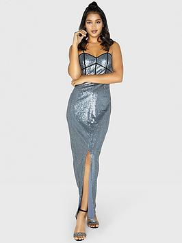 little-mistress-strappy-sequin-maxi-dress-slate