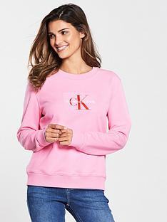 calvin-klein-calvin-klein-monogram-flock-crew-neck-sweat