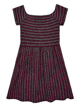 v-by-very-girls-glitter-stripe-bardot-party-dress