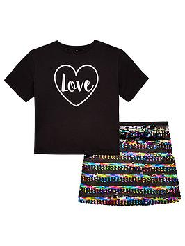 v-by-very-girls-sequin-skirt-t-shirt-party-outfit