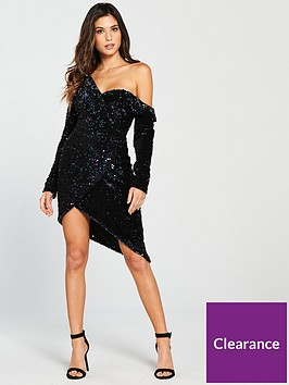 lavish-alice-sequin-velvet-off-the-shoulder-mini-dress-blue