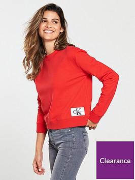calvin-klein-boxy-monogram-crew-neck-sweat-racing-red