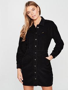 wrangler-cord-western-dress-black