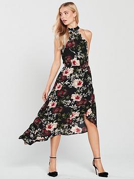 ax-paris-floral-print-high-low-hem-dress