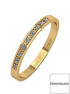 love-diamond-personalised-9ct-gold-5-point-diamond-25mm-wedding-band