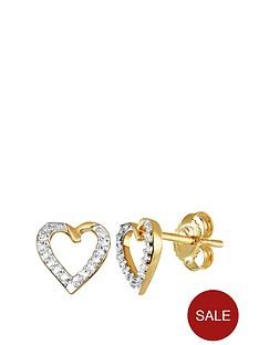 love-diamond-9ct-gold-diamond-set-heart-stud-earrings