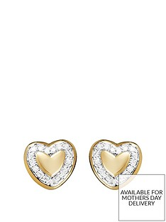 love-diamond-gold-plated-sterling-silver-5-point-diamond-heart-stud-earrings