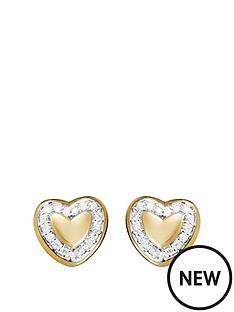 love-diamond-gold-plated-sterling-silver-5-point-diamond-heart-stud-earrings