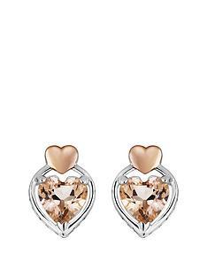 love-gem-rose-gold-plated-sterling-silver-morganite-heart-stud-earrings
