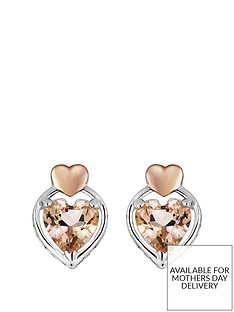 love-gem-rose-gold-plated-sterling-silver-morganite-heart-stud-earrings