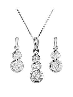 love-diamond-9ct-white-gold-graduated-15-point-diamond-pendant-necklace-earrings-set