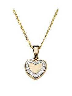 love-diamond-gold-plated-sterling-silver-diamond-set-heart-pendant-necklace