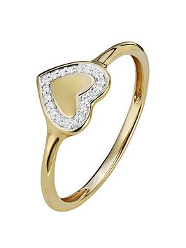 love-diamond-9ct-gold-4-point-diamond-heart-shape-signet-ring