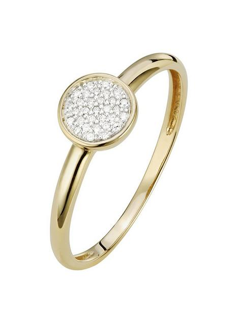 love-diamond-9ct-gold-4-point-diamond-cluster-ring