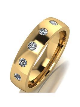 Love DIAMOND Love Diamond 9Ct Gold 25 Point Diamond Set 5Mm Court Wedding  ... Picture