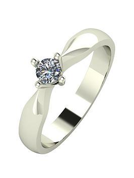 Love DIAMOND Love Diamond 9Ct Gold 15 Point Diamond Solitaire Ring Picture