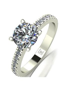 Moissanite Moissanite Lady Lynsey 9Ct Gold 1.40Ct Total Round Brilliant  ... Picture