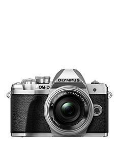 olympus-olympus-om-d-e-m10-mk-iii-silver-camera-mzuiko-14-42mm-ez-pancake-lens-kit