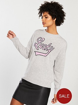 v-by-very-cashmere-lucky-slogan-jumper-grey