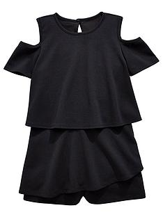 v-by-very-girls-cold-shoulder-party-playsuitnbsp--black
