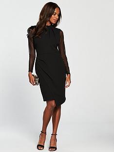coast-amber-cocktailnbsp-dress-black