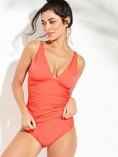 f2c2dd336123d V by Very Shapewear Essential Tankini Set - Bright Coral