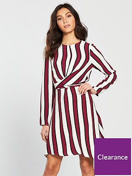 river-island-stripe-wrap-tea-dress
