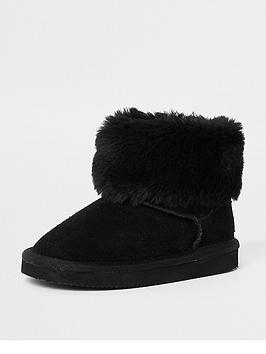 river-island-mini-girls-black-faux-fur-mini-ankle-boot